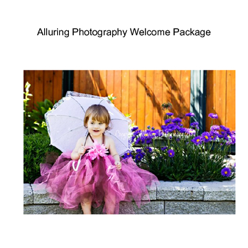 Alluring Photography Welcome Package