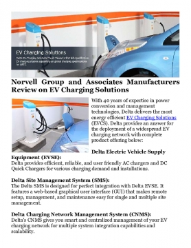 Norvell Group and Associates Manufacturers Review on EV Charging Solutions