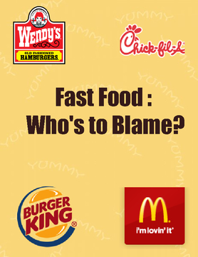 Fast Food: Who's to Blame?