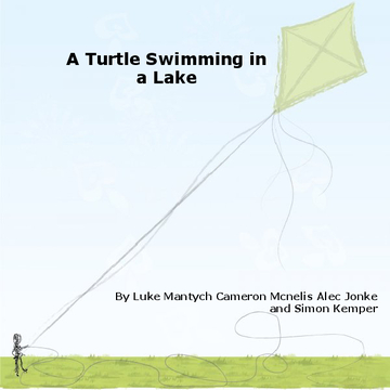 A Turtle Swimming in a Lake