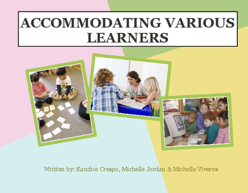Accommodating Various Learners