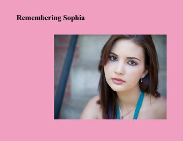 Remembering Sophia