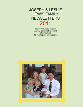2011 Lewis Family Newsletters