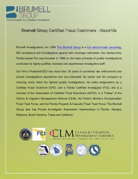 Brumell Group Certified Fraud Examiners - About Us
