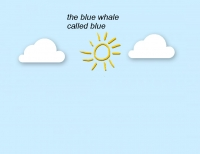 the blue whale named blue
