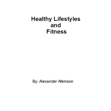 Healthy Lifestyles and Fitness