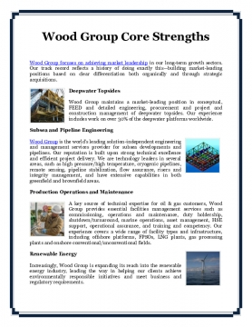 Wood Group Core Strengths