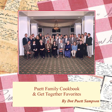 Puett Family Cookbook & Get Together Favorites