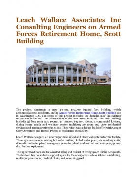 Leach Wallace Associates Inc Consulting Engineers on Armed Forces Retirement Home, Scott Building