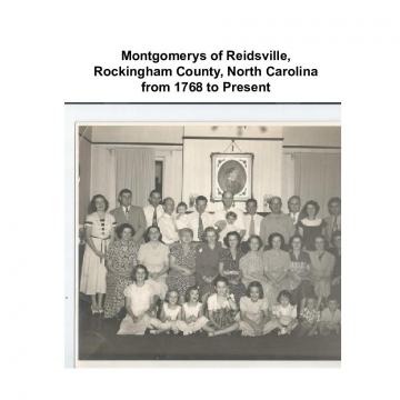 Montgomerys of Reidsville, Rockingham County, NC