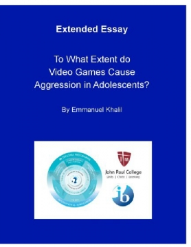 To What Extent do Video Games Cause Aggression in Adolescents