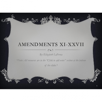 Amendments XI-XXVII