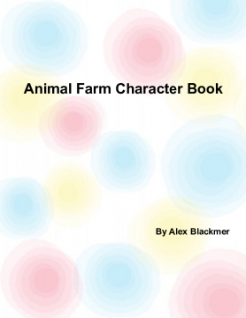 Animal Farm Character Book