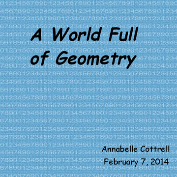 A World Full of Geometry