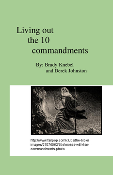 Living Out the Ten Commandment