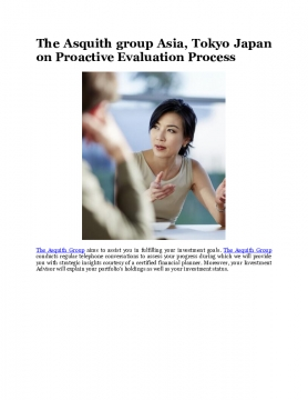 The Asquith group Asia, Tokyo Japan on Proactive Evaluation Process
