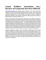 Review of Corporate Services Offered