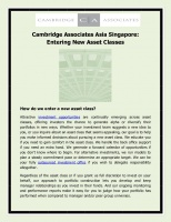 Cambridge Associates Asia Singapore