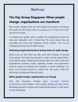 The Hay Group Singapore   When people ch