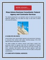 Federal Agency and Contractor Services