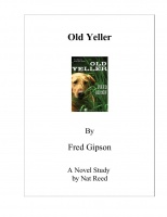 Old Yeller Novel Study Preview