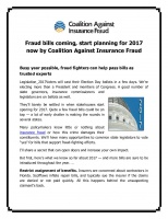 Fraud bills coming, start planning