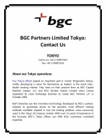BGC Partners Limited Tokyo   Contact Us