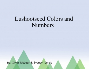Lushootseed colors and numbers