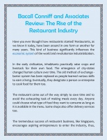 The Rise of the Restaurant Industry