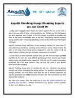 Asquith Plumbing Group Plumbing Experts