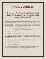 Fraud Labs Pro Fraud Detection