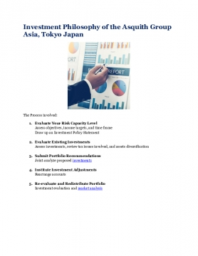 Investment Philosophy of the Asquith Group Asia, Tokyo Japan