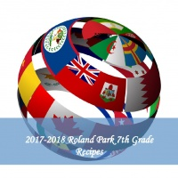 2017-2018 Roland Park 7th Grade Recipes