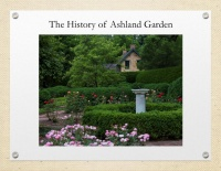 History of Ashland Garden BOOK Oct 2017