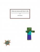 Find out minecraft Steve's life