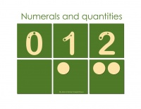 MONTESSORI COMPATIBLE NUMERALS AND QUANTITIES