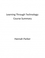 Learning Through Technology: Course Summary