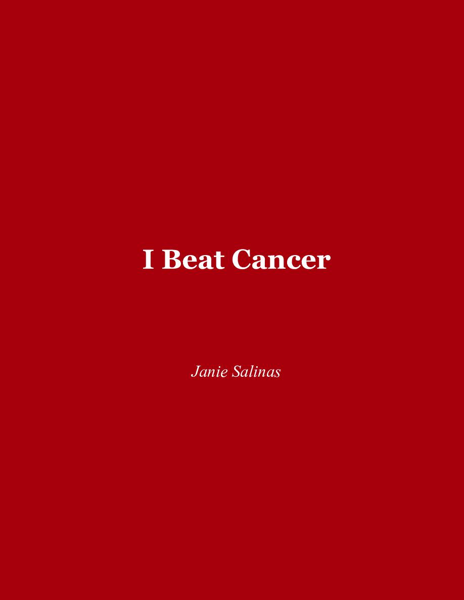 I Beat Cancer | Book 803089 - Bookemon
