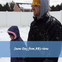 Snow Day from AR's view