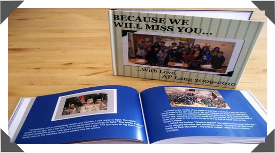 Professional bound, Quality Hardcover Yearbook in Full Color