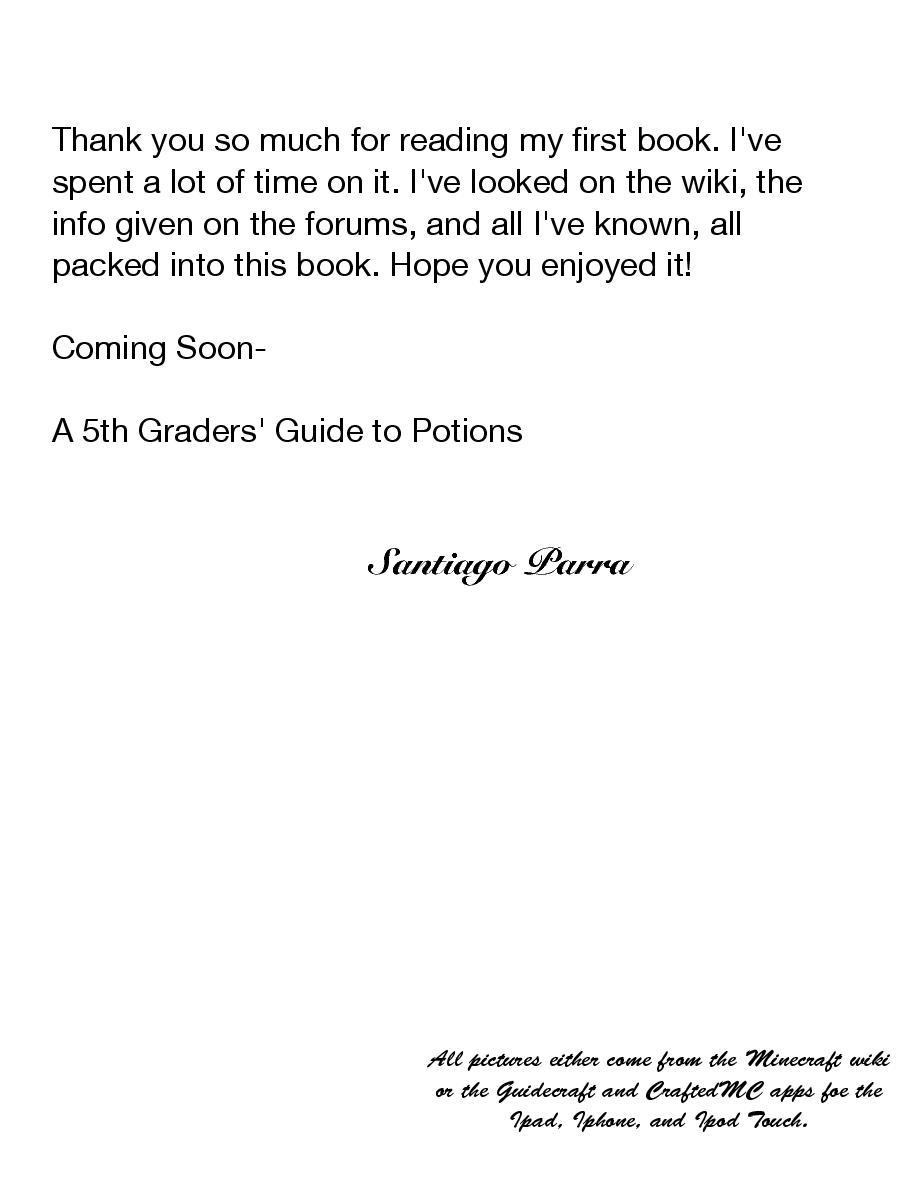 A 5th Grader's Guide to Minecraft | Cover Page | Book 261805 - Bookemon