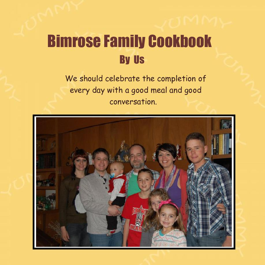 Family Cookbook Cover ~ Flipbook: bimrose family cookbook book 434692 front cover bookemon