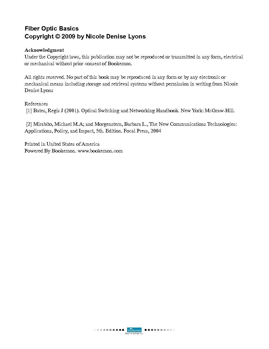 Fiber Optic Basics | Cover Page | Book 16047 - Bookemon