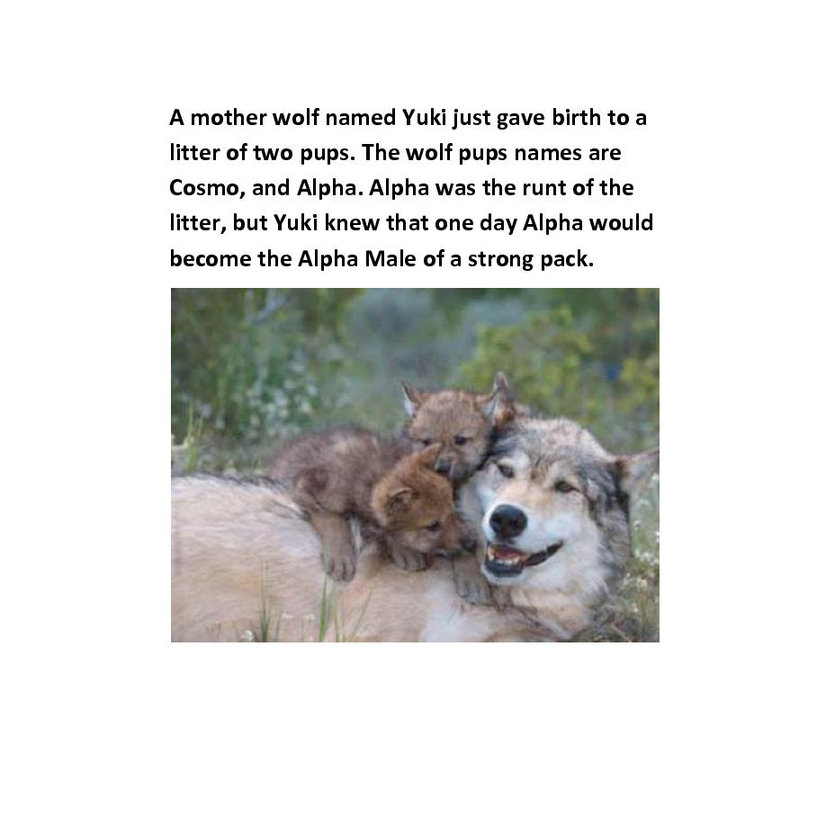 A Wolf's Story - The Alpha Male | Cover Page | Book 232098 - Bookemon