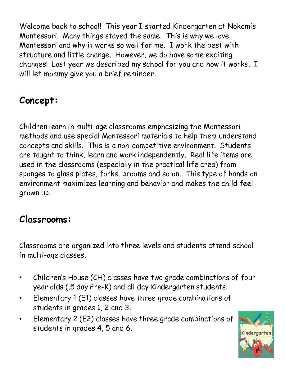 Flipbook: Kindergarten at Nokomis Montessori Book 228573   Front ...