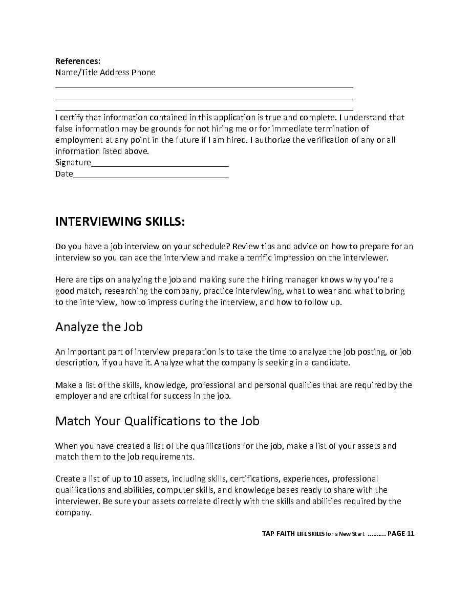 Tap Faith Life Skills Cover Page Book 467076 Bookemon